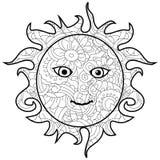 Modèle antistress adulte du soleil de coloration, Astrakan r Photographie stock