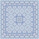 Modèle arabe bleu-clair carré élégant Photographie stock