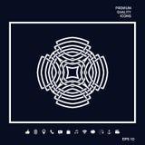 Modèle arabe géométrique Élément de logo pour votre conception Photos libres de droits