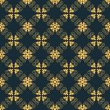Modèle arabe sans couture de vecteur Couleur d'or et bleu-foncé illustration stock