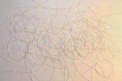 Modèle argenté blanc abstrait de fil Image libre de droits