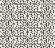 Modèle arrondi géométrique abstrait noir et blanc sans couture de trottoir de dentelle de vecteur illustration libre de droits