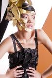 Modèle asiatique dans l'image créatrice Photo libre de droits