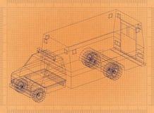 Modèle automobile d'ambulance rétro illustration de vecteur