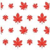 Modèle Autumn Leaf Fall Red Illustration Image libre de droits