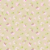Modèle avec de petites fleurs roses Illustration Stock