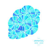 Modèle avec des ammonites Illustration de vecteur Thème de mer Photo libre de droits