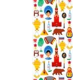 Modèle avec des attributs russes traditionnels illustration stock