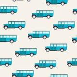 Modèle avec des autobus Image libre de droits