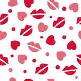 Modèle avec des baisers et des coeurs Image libre de droits