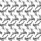 Modèle avec des cerfs communs illustration de vecteur