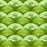 Modèle avec des champs de marguerite en volume Images stock