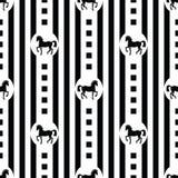 Modèle avec des chevaux Images libres de droits