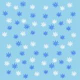 Modèle avec des flocons de neige Images libres de droits