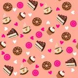 Modèle avec des gâteaux Image stock