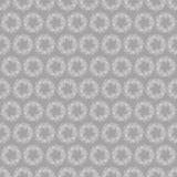 Modèle avec des guirlandes des fleurs blanches sur un fond gris Image libre de droits