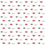 Modèle avec des lèvres et des yeux Photo libre de droits