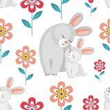 Modèle avec des lapins Photos stock