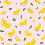 Modèle avec des oranges Images libres de droits