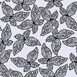 Modèle avec des papillons Photo stock