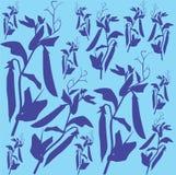 Modèle avec des pois sur un fond bleu Images libres de droits