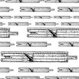 Modèle avec des règles à calcul illustration stock