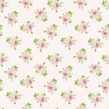 Modèle avec des roses de rose en pastel Photo stock