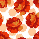 Modèle avec des roses de rose en pastel Illustration Stock