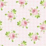 Modèle avec des roses de rose en pastel Photo libre de droits