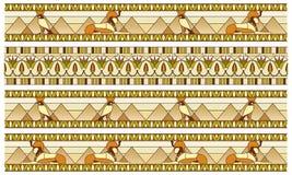 Modèle avec des symboles égyptiens antiques Photo stock