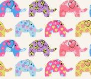 Modèle avec l'éléphant coloré Photos stock