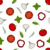 Modèle avec l'arugula et les légumes Illustration Libre de Droits