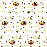 Modèle avec l'image de beaux mutants d'animation des abeilles d'éléphants Illustration Stock