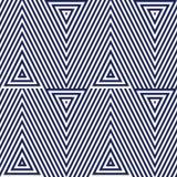 Modèle avec l'ornement géométrique Fond rayé d'abrégé sur bleu marine Papier peint répété de triangles Photo libre de droits