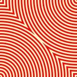 Modèle avec l'ornement géométrique symétrique Fond abstrait blanc rouge illustration libre de droits