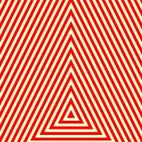 Modèle avec l'ornement géométrique symétrique Fond abstrait blanc rouge rayé Papier peint de triangles répété par résumé illustration stock