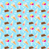 Modèle avec la crème glacée différente Image stock