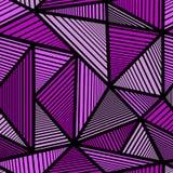 Modèle avec la triangle pourpre Images libres de droits
