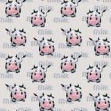 Modèle avec la vache illustration de vecteur