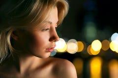 Modèle avec le cheveu blond Photos libres de droits