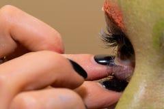 Modèle avec le maquillage d'art Photo libre de droits