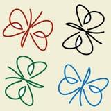 Modèle avec le papillon coloré et stylisé illustration libre de droits