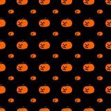 Modèle avec le potiron de Halloween (sans couture) illustration libre de droits