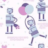 Modèle avec le robot d'amour Image stock
