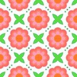 Modèle avec le style stylisé audacieux des fleurs en 1970 s illustration libre de droits