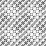 Modèle avec les boucles noires et blanches Illustration Stock