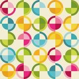 Modèle avec les cercles colorés Photographie stock