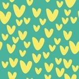 Modèle avec les coeurs jaunes Images libres de droits