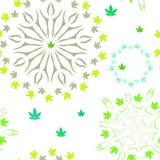 Modèle avec les feuilles colorées de marijuana Photo stock