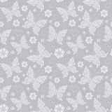 Modèle avec les papillons floraux Image libre de droits